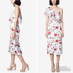 Fame Partners Aubrieta Floral Ruffle One shoulder